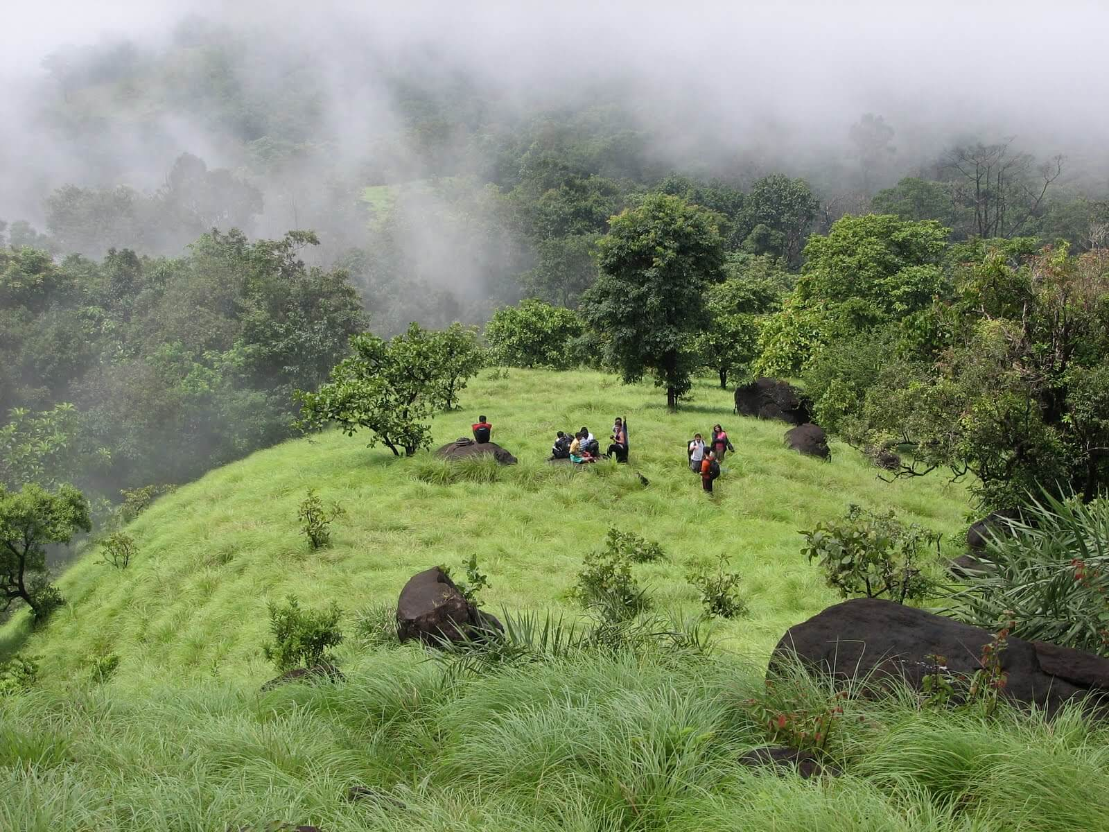Guided trekking to hill